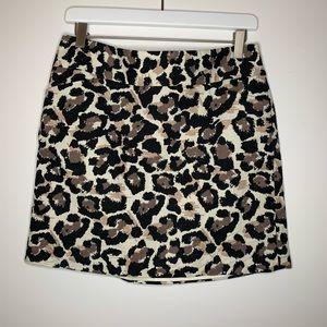 LOFT leopard print mini skirt